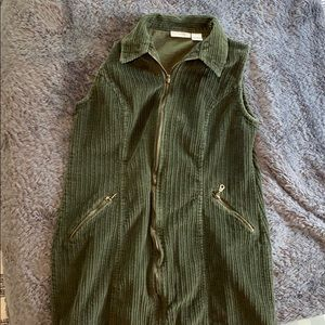 Courtney & Co Green Curdoroy dress